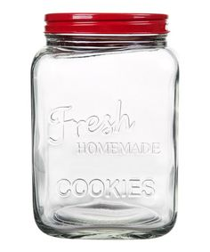Look what I found on #zulily! Red 'Homemade Cookies' Jar by Home Essentials and Beyond #zulilyfinds
