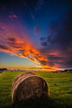Firey Sunset, Slave Lake, Alberta by Michael Leonard, via 500px