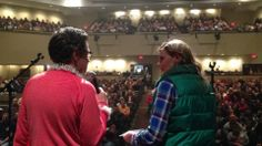 Larry and Lauren at the final stop of the K-LOVE Christmas Tour in Evansville, IN. #KLOVEChristmas #KLOVEEvansville