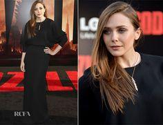 Elizabeth Olsen In Chloé – 'Godzilla' LA Premiere