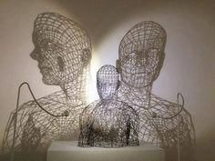 Wire Sculptures Shadows by Moto Waganari .
