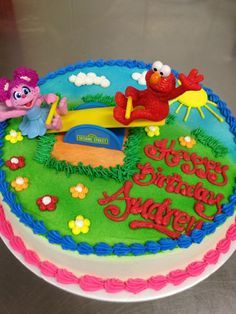 Elmo Abby Birthday Party cake from walmart Told them what