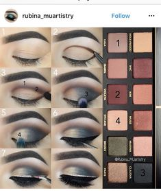 55 trendy makeup ojos chicos make up Smoky Eye Makeup, Eye Makeup Steps, Eyeshadow Makeup, Summer Eyeshadow, Gel Eyeliner, Eyeshadows, Makeup By Mario Palette, Makeup Palette, Abh Palette