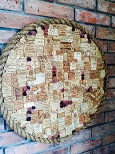Wall Decor / over Fireplace Wine Cork Art / Wine Corks Collage with Manilla Rope, Original Rustic/ shabby Home Decor / Gift for Wine Lovers by HandmadeByJFo on Etsy https://www.etsy.com/listing/466976693/wall-decor-over-fireplace-wine-cork-art