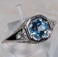2ct Aquamarine Ring - Size 7