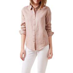 Buy Hobbs Marianne Linen Shirt Online at johnlewis.com