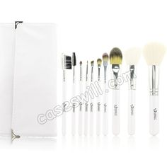 EMILY Professional Makeup Brushes Set - White(10-piece Set) US$17.99
