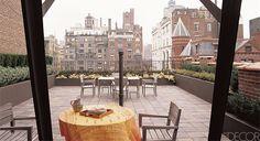 Architect Ellen Honigstock designed this Manhattan terrace.