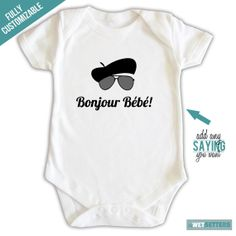 Shop for on Etsy, the place to express your creativity through the buying and selling of handmade and vintage goods. Paris Baby Shower, Beret, Grandchildren, Baby Love, Paris France, Shower Ideas, Onesies, Party Ideas, French