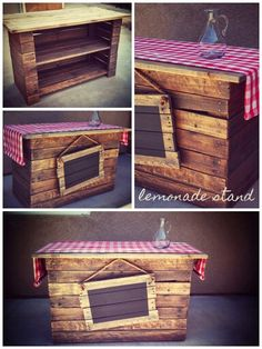 Lemonade Stand - Made from used pallet boards.