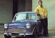 James Garner with his Mini Cooper