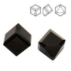 4841 Cube 4mm Jet  Dimensions: 4mm Colour: Jet 1 package = 1 piece 1 Piece, Cube, Barware, Jet, Swarovski, Container, Colour, Color, Colors