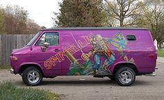 Michael Ian Black Presents: The 8 Awesomest Custom Vans In The . Dodge Van, Chevy Van, Gm Chevy, Customised Vans, Custom Vans, Camper, Astro Van, Old School Vans, Painted Vans
