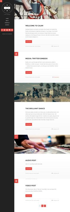 Calm is a clean and lightweight blog and portfolio #WordPress theme. It's fully responsive so it will fit any screen size. It uses smooth animations for page loading and will display your work and articles in style. #free #download for this week only