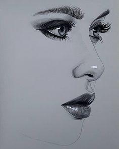Pencil Art Drawings, Realistic Drawings, Art Drawings Sketches, Easy Drawings, Portrait Sketches, Pencil Portrait, Portrait Art, Portraits, Eye Drawing Tutorials