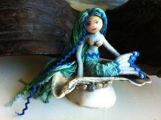 Handmade Mermaid Doll (Cassis) by Shershells