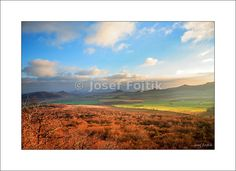 Fine Art Photography Print on a high-end photo paper - View from the Ostry Hill to the south, Ceske stredohori Mountains, Czech Republic