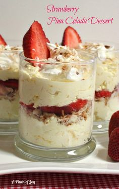 Strawberry Pina Colada Dessert