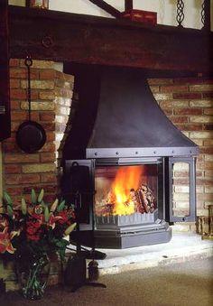 Dovre 2300 wood burning  inglenook stove - Dovre 2300 SERIES Woodburner