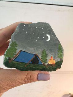 Cute camping themed rocks!