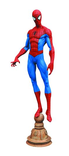 Diamond Select Marvel Gallery Spider-Man Statue Marvel's most popular super-hero is the newest addition to the Marvel Gallery PVC line! culpted in 9-inch scale, this sculpture of Spider-Man see ..