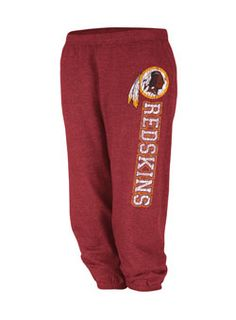 LADIES SPORT REDSKINS CROPPED PANT
