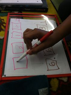 The Place Value Game ****** Students use wipe off boards to play a place value/decimal game.  Roll die & place number in one of the squares. Use strategy to create the largest or smallest number. Two or more players....compare numbers or arrange from least to greatest.