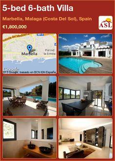 5-bed 6-bath Villa in Marbella, Malaga (Costa Del Sol), Spain ►€1,800,000 #PropertyForSaleInSpain