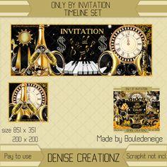Denise Creationz: Only by Invitation Timeline Set