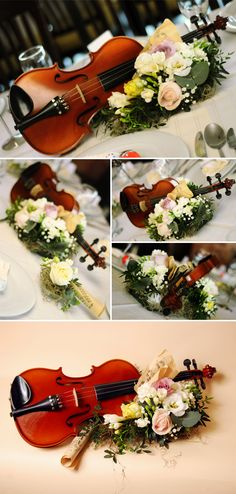 music inspired wedding decor