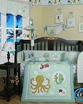 Under The Sea Nursery Bedding Baby Bedrooms Ocean Themed Decor Underwater Wall