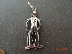 Sterling Silver Charm Charlie Chaplin Articulate Solid Silver Vintage Bracelet charm Pendant Fob Figural by JackInTheBox7 on Etsy https://www.etsy.com/listing/291847605/sterling-silver-charm-charlie-chaplin