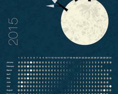Moon Calendar 2015, lunar calendar, printable moon phases calendar
