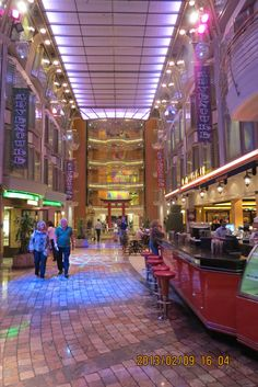 the main mall in the ship