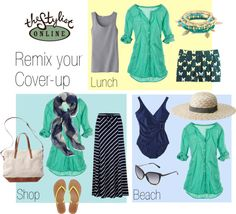 """""""Cruise wear - remix your cover-up"""" by thestylistonline on Polyvore"""