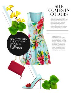 """Spring Dress - Top Set! May 1st"" by groove-muffin ❤ liked on Polyvore featuring Trina Turk, TravelSmith and Oscar de la Renta"