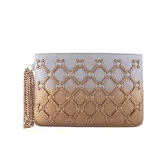 Shaded Ring Weave Wristlet Clutch Bag | SUEDE