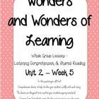 Comprehension Sheets to go along with the McGraw Hill Wonders Reading Series for 1st grade Unit 2, Week 5