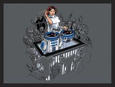 Star Wars: Adult Custom Tshirt Princess Leia Music DeeJay. $20.00, via Etsy.
