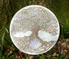 Handpainted shamanic drum by CreationTree on Etsy