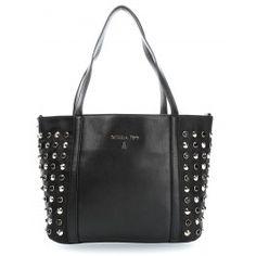wardow.com - #bag #rock #metallic #nieten #trend #PatriziaPepe Crystal Studs Handtasche schwarz