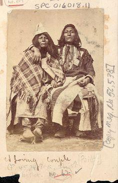 Paiute Jim and wife - Paiute - 1867