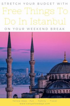 Free things to do in Istanbul - All the best places to visit and things to see if you want to visit Istanbul on a tight budget. Istanbul Guide, Visit Istanbul, Istanbul Travel, Weekend Breaks, Travel Oklahoma, Free Things To Do, City Break, New York Travel, Thailand Travel