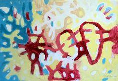 """""""Pintura 162"""" Óleo sobre cartulina 34 x 49 cms 2006"""