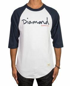 Diamond Supply Co. OG Script Raglan Shirt Casual Shirt