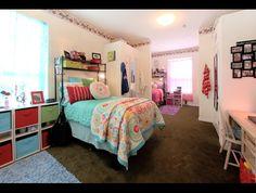 Triple Room at Ivy House - UF Luxury Dorm on Sorority Row in Gainesville, FL Uf Dorm, Triple Dorm, Sorority Row, University Dorms, Cinder Block Walls, Cool Dorm Rooms, Student Room, Dorm Room Organization, Ivy House
