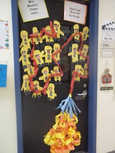 After teaching about firefighters, this would be a great craft for kids to get into. The idea of them putting themselves on a firefighter costume would be exciting and a great way to remind the students every day what firefighters do but it being on the door.
