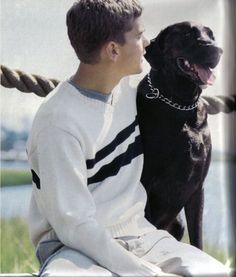 Joshua Jackson for J. Crew's Dawson's Creek photo shoot.
