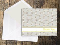 Thank You Card-Modern Honey. $5.00, via Etsy.