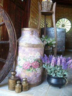 tambor de leite decorado